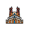sagrada familia spain landmark flat color vector image