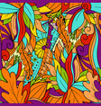 seamless pattern background with abstract leaves vector image vector image