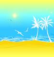 Seamless summer texture vector image