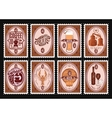 set of postage stamps Template with various vector image vector image