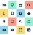 set of simple gadget icons