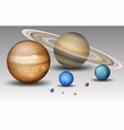 set of solar system planet vector image