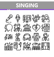 singing song collection elements icons set vector image vector image