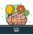 smart brain ideas vector image vector image