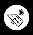 solar energy panel icon design vector image