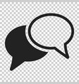 speech bubble flat icon discussion dialog logo vector image vector image