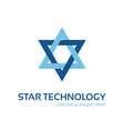 Star technology logo vector image vector image