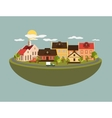 Summer landscape in flat style vector image vector image