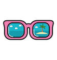 summer sunglasses cartoon vector image