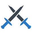 swords flat icon vector image