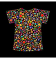t-shirt shape vector image