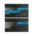 tech business card blue and black concept vector image vector image