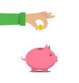 the man put money into a money box b vector image vector image