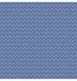 Tile blue knitting pattern or winter background vector image