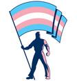 transgender pride flag bearer vector image