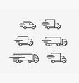 Truck icon set freight delivery symbol