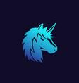 unicorn head logo vector image