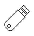 USB device line icon vector image
