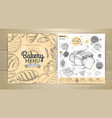 vintage bakery menu design restaurant menu vector image