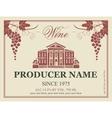 wine label in retro style vector image vector image