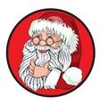 Santa Claus Cartoon Character Showing Merry vector image