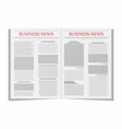 business newspaper newspaper template isolated on vector image