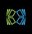 window building logo vector image