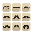 set of mustache icons vector image