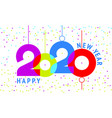 2020 text design for you website poster banner vector image