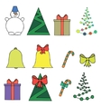 a set of New Year vector image