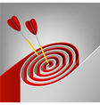 abstract target vector image vector image