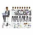 african businessman - cartoon people vector image vector image