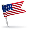 American pin icon flag vector image