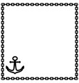 anchor and chain frame 1302 vector image vector image