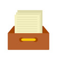 archive papers icon flat style