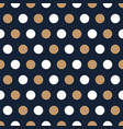 beige and white polka dots on blue background vector image vector image