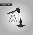 black and white style icon oil well vector image