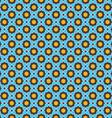 Blue shapes grid with orange elements vector image
