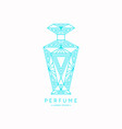 bottle perfume linear image perfume to vector image vector image