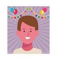boy smiling face cartoon vector image vector image