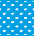 bright flower pattern seamless blue vector image