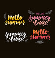 brush lettering composition summer vacation vector image vector image