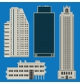 Buildings set with skyscrapers vector image
