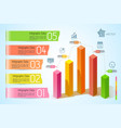 business graphs infographic template vector image vector image