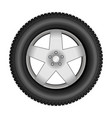 Car tire on an alloy wheel vector image