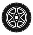 car wheel icon simple style vector image vector image