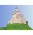castle on a rock vector image vector image