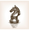 Chess knight sketch vector image vector image