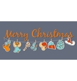 Christmas banner Cozy Christmas poster set vector image vector image