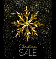 christmas sale card with luxury gold decoration vector image vector image